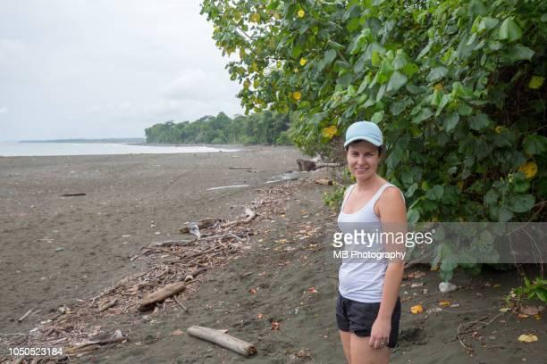 Woman at Osa Peninsular Beach