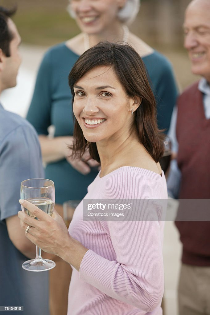 Woman at party : Stockfoto