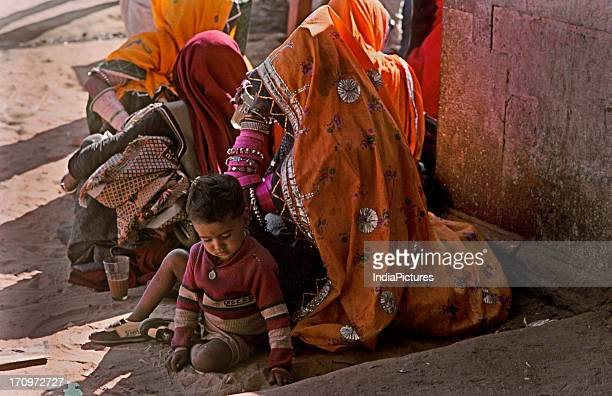 Woman at Pushkar fair Rajasthan India