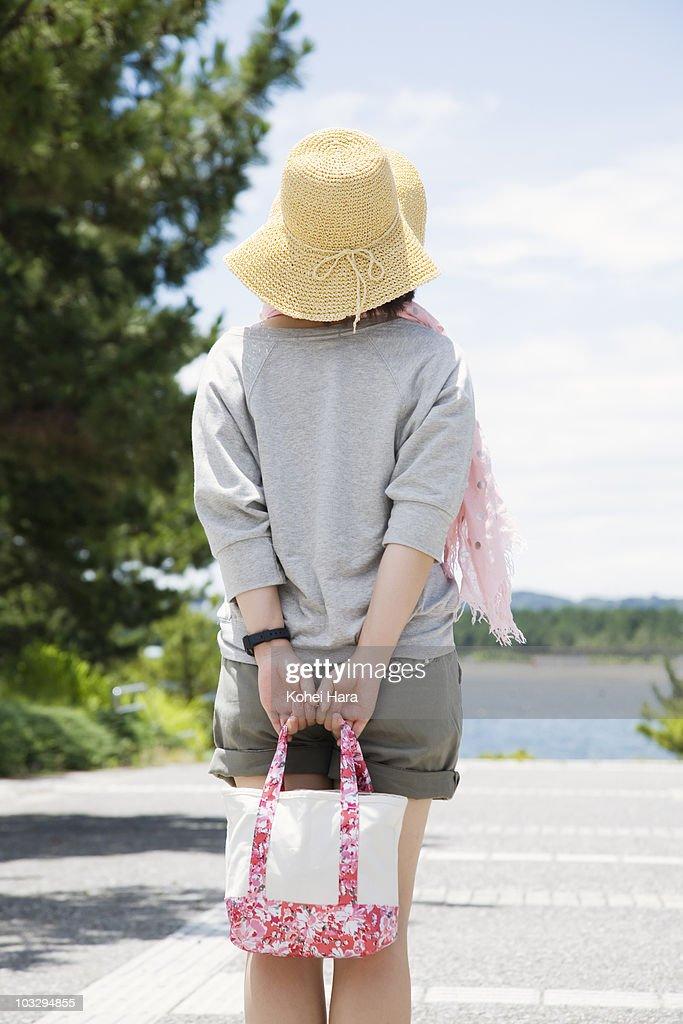 woman at seaside : Stock Photo