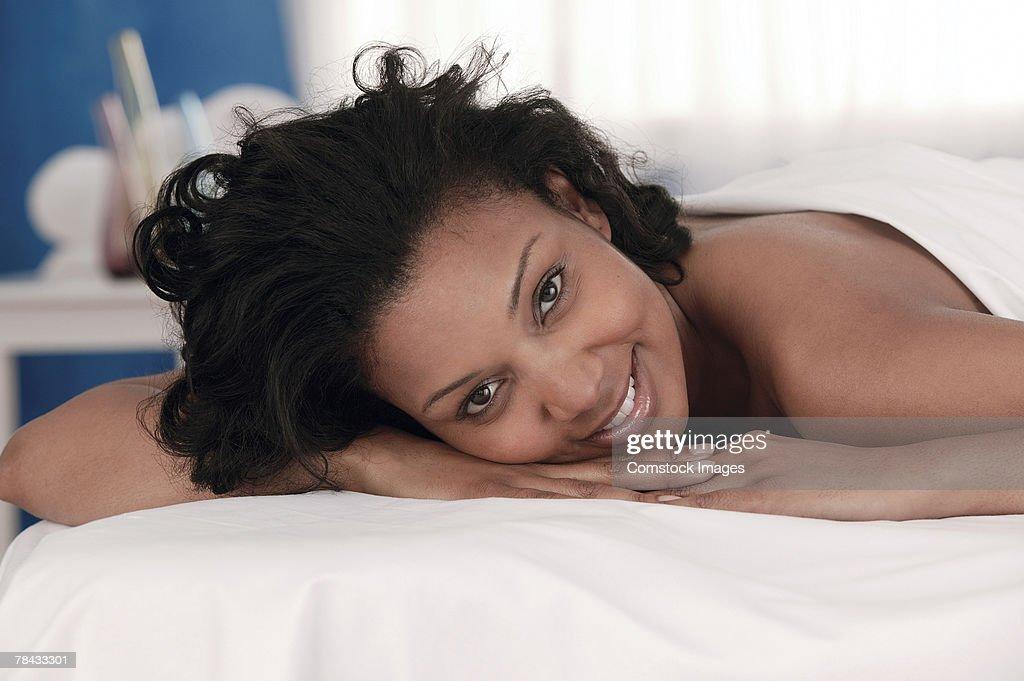 Woman at spa : Stockfoto