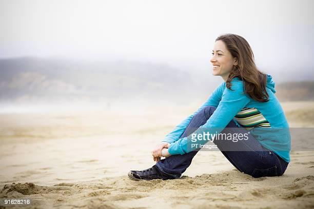 A woman at the beach