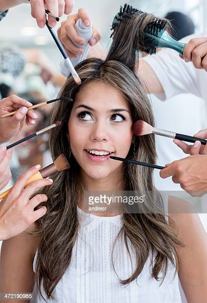 Woman at the beauty salon