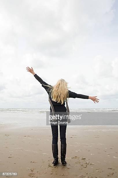 Woman at the coast