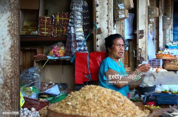 Woman at the food market