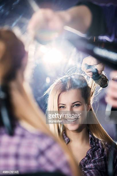 Woman at the hairdresser's.