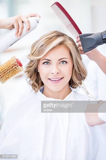 Woman at the hairdressing salon