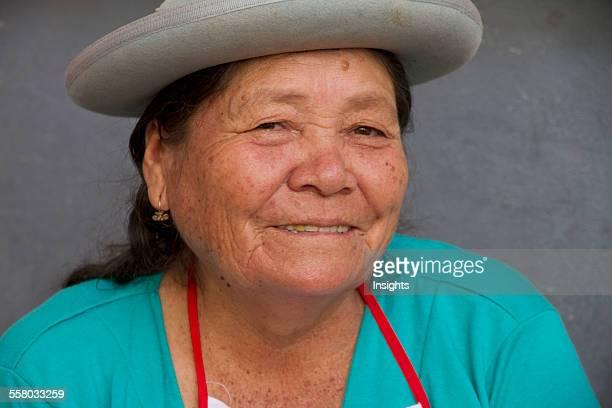 Woman At The Jueves De Comadres Market During Carnaval Chapaco Tarija Bolivia