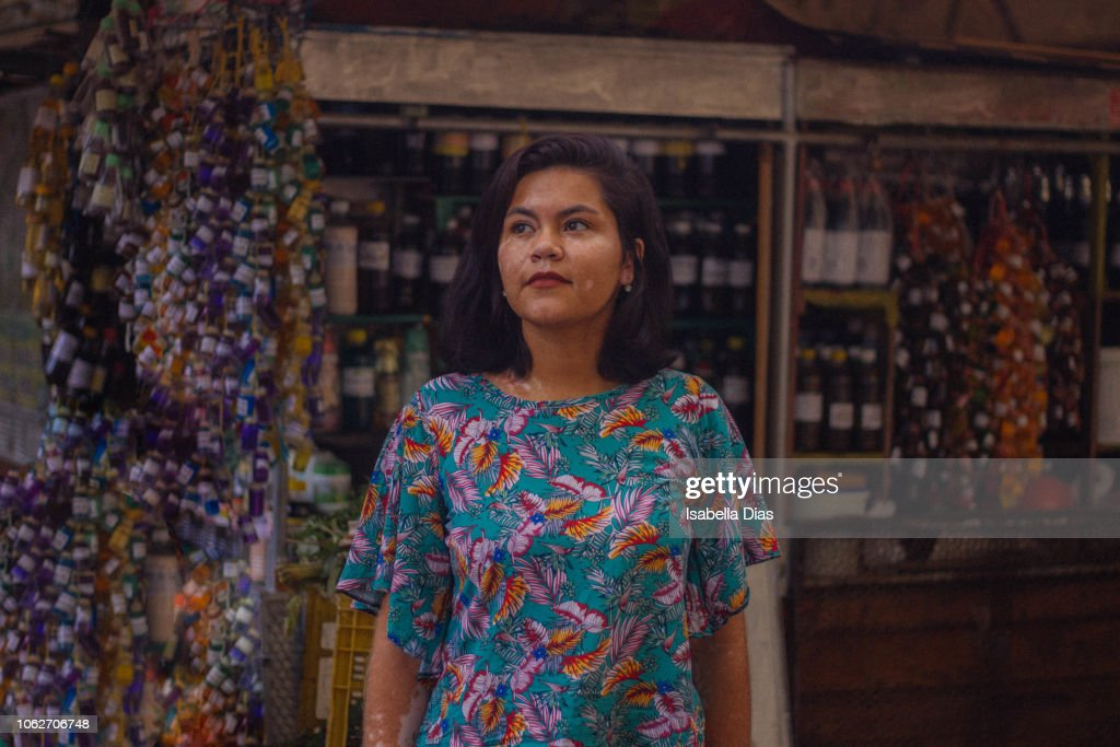 Woman at the market : Stock Photo
