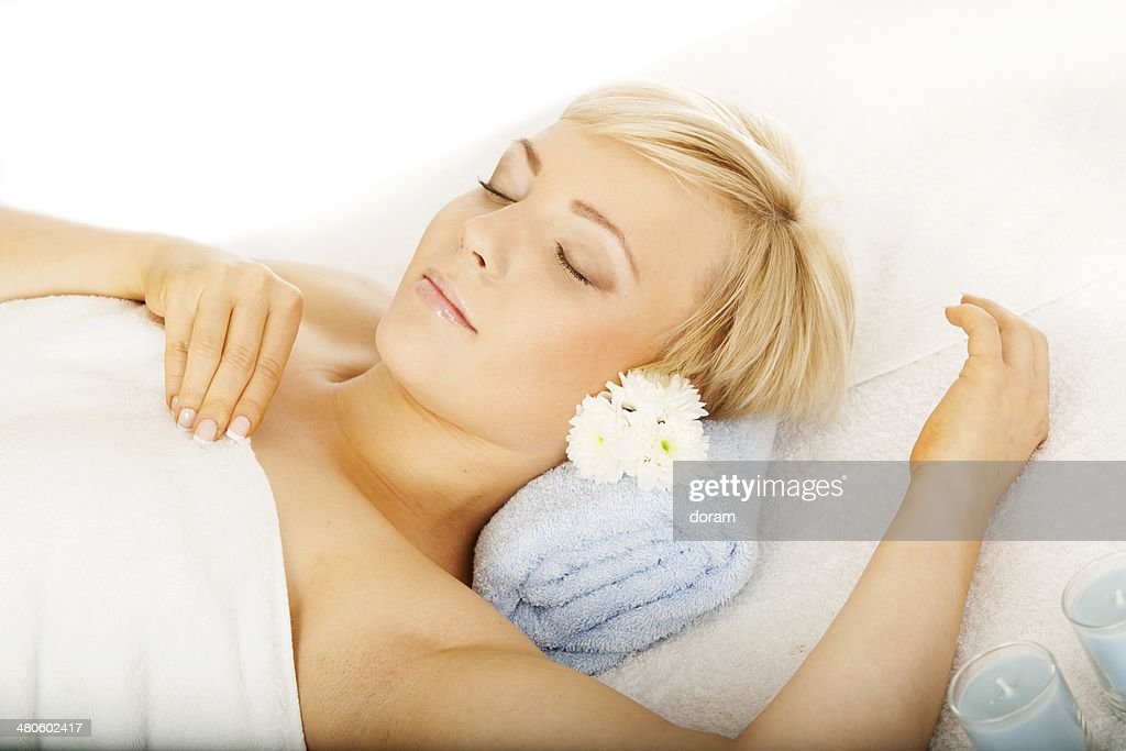 Woman at the spa : Stock Photo