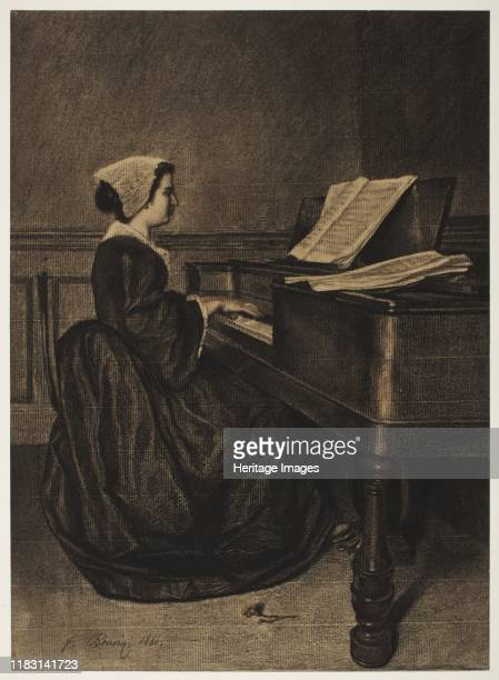 Woman at the Spinet 1860 The subject of the woman at the piano was a recurrent theme in Bonvins oeuvre The pianist depicted here was likely Céline...