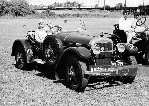 A woman at the wheel of a 36 litre 1914 HispanoSuiza Alfonso XIII Sydney Australia