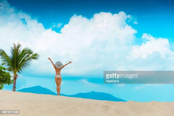 Woman at tropical beach