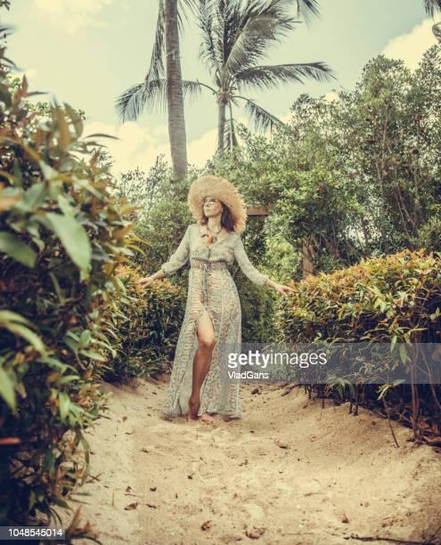 Woman at tropical