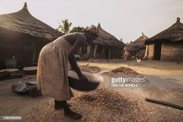 Woman at work in the village of Akakope Togo