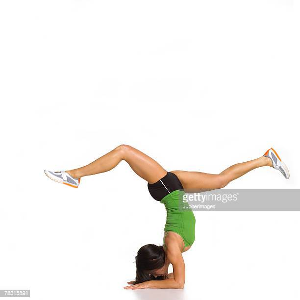 Woman Balancing on Forearms