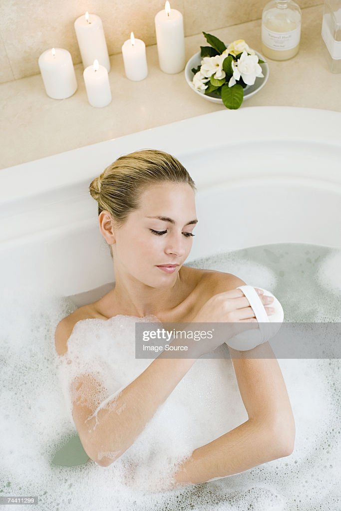 Portrait Of Young Woman With Bathing Suit On High-Res