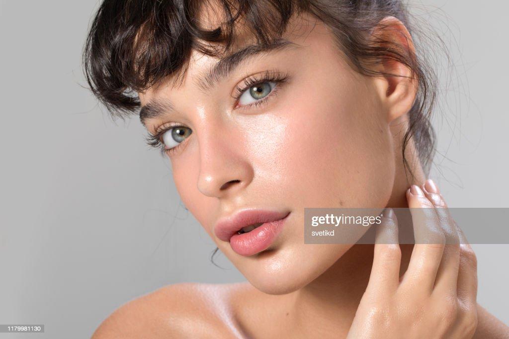 女性美容肖像 : 圖庫照片