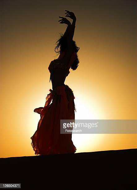 woman, belly, sand, desert, dancer, arabic - belly dancer stock photos and pictures