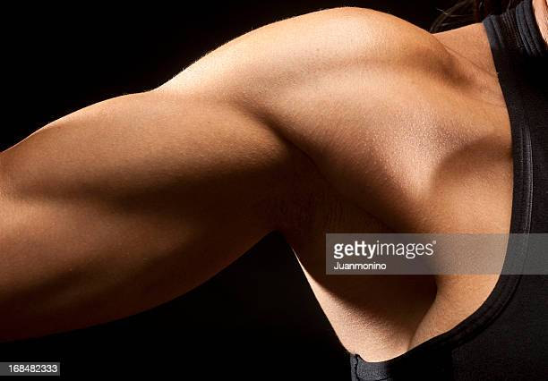 woman biceps muscle - female armpits stock pictures, royalty-free photos & images