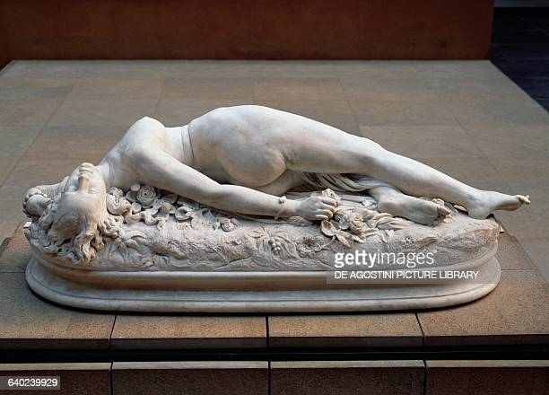 Woman bitten by a snake by Auguste Clesinger marble sculpture France 19th century Paris Musée D'Orsay
