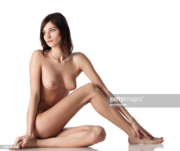 Woman body on white