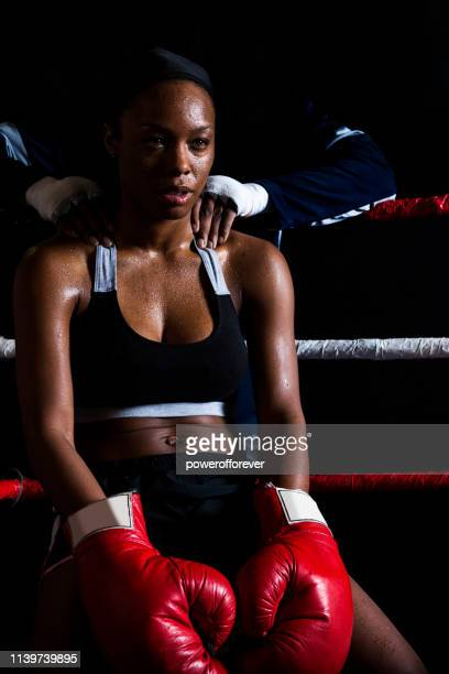 Woman Boxer in the Corner
