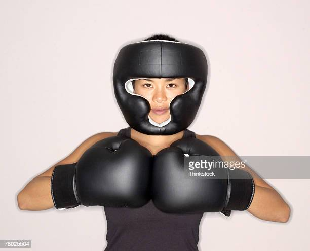 woman boxer - headwear stock pictures, royalty-free photos & images