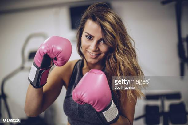 woman boxer - sports glove stock pictures, royalty-free photos & images