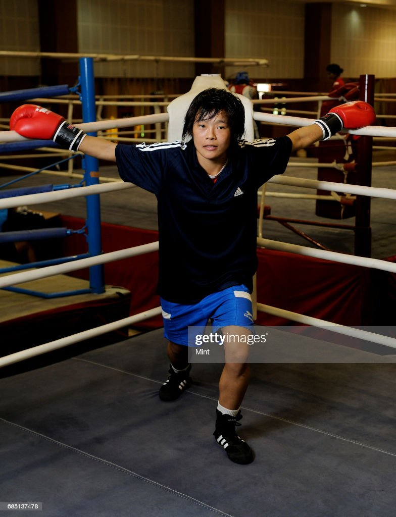 Woman boxer Sarjubala Devi at training at the Netaji Subhas National Institute of Sports Patiala