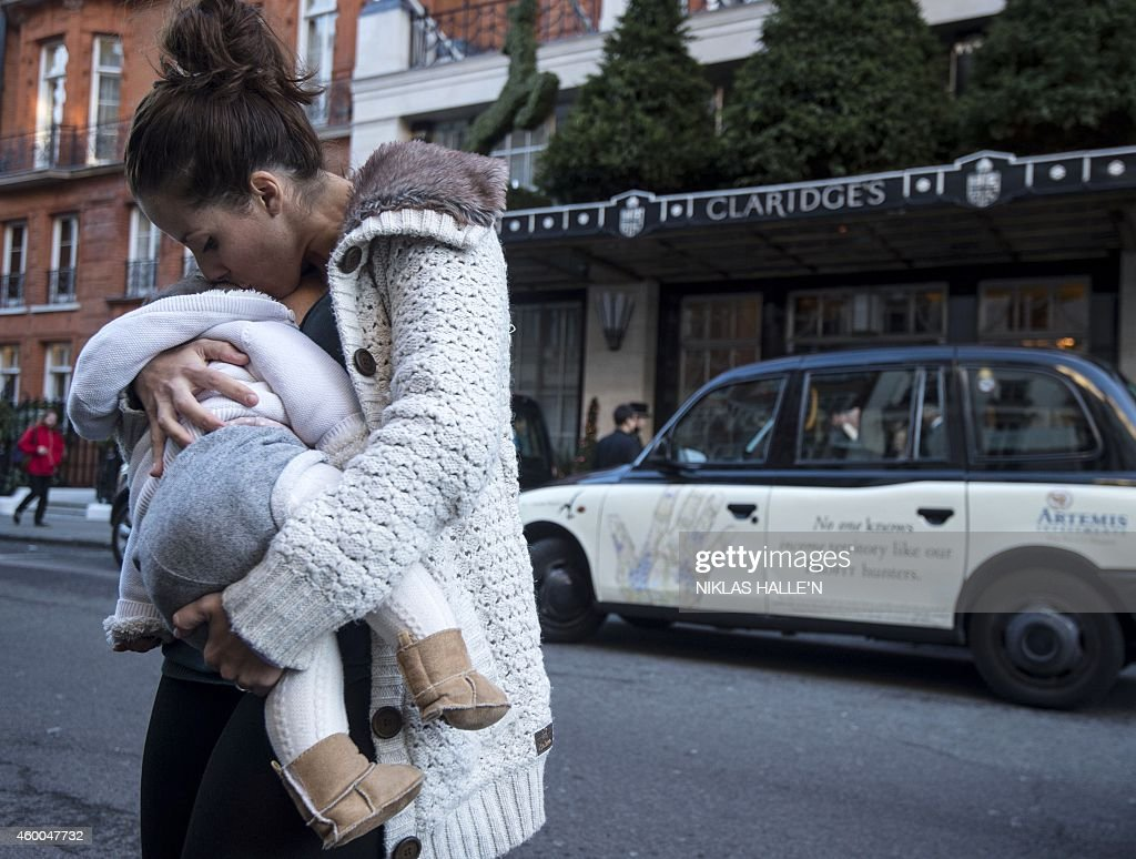BRITAIN-PROTEST-BREASTFEEDING : News Photo