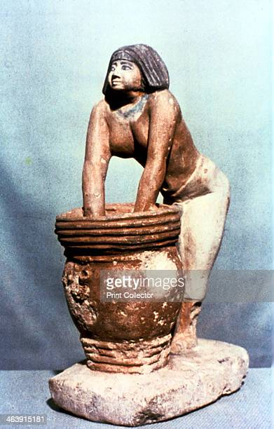 Woman brewing beer Ancient Egyptian tomb model From the Cairo Museum Egypt