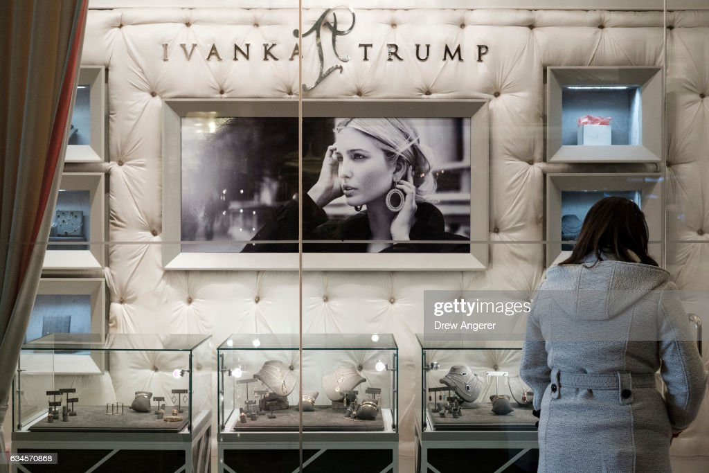 Online Sales For Ivanka Trump Brand Drop 26 Percent In January : News Photo
