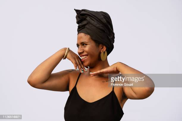 Portrait of an African American woman with turban