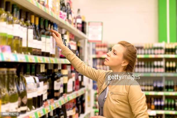 女性のワイン、スーパーで購入