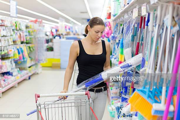 woman buys MOP