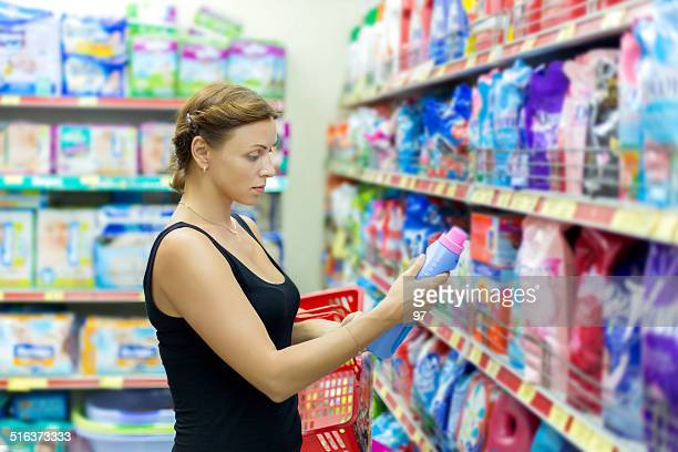Woman buys washing powder