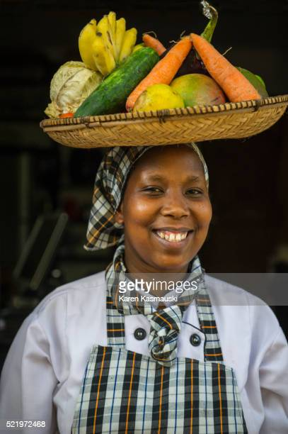Woman Carrying Fruit and Vegetables