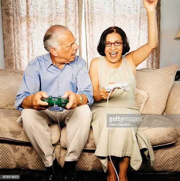 Woman Celebrating Defeat of Husband