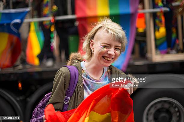 Woman celebrating Pride