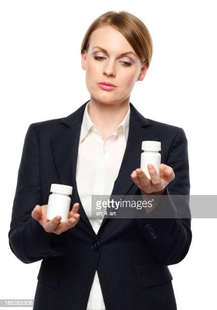 Woman choosing medicine