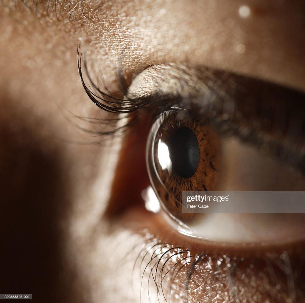 Woman, close-up of eye : Stock Photo