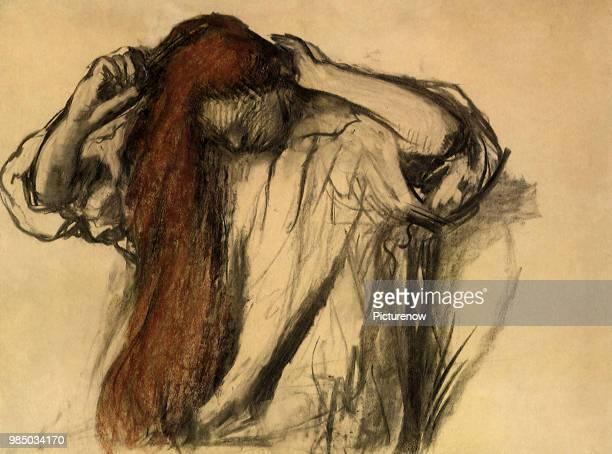 Woman Combs Hair Degas Edgar