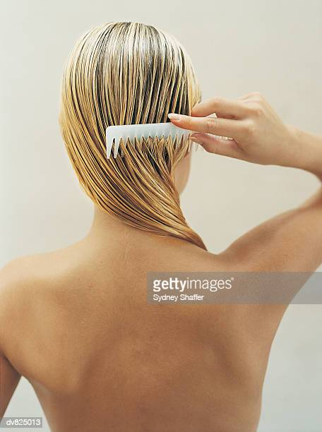 Woman Coming Wet Hair