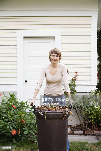 Woman Composting