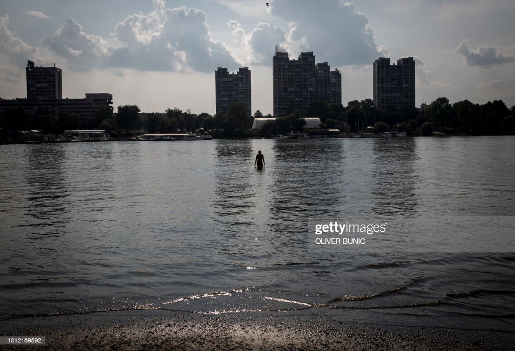 River Danube In The Serbian Capital Belgrade On August 6 2018 As A Heat Wave Sweeps Across Europe With Temperatures Reaching 35 Degrees Celsius 95