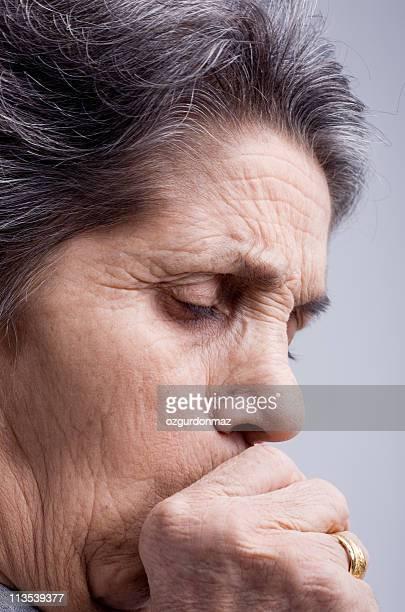 woman coughing - infectious disease bildbanksfoton och bilder