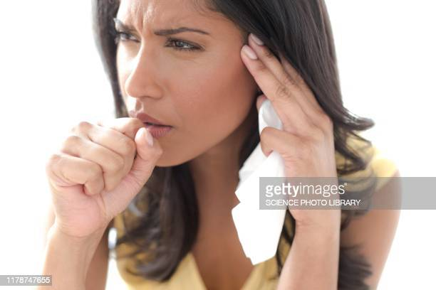 woman coughing - coughing stock pictures, royalty-free photos & images