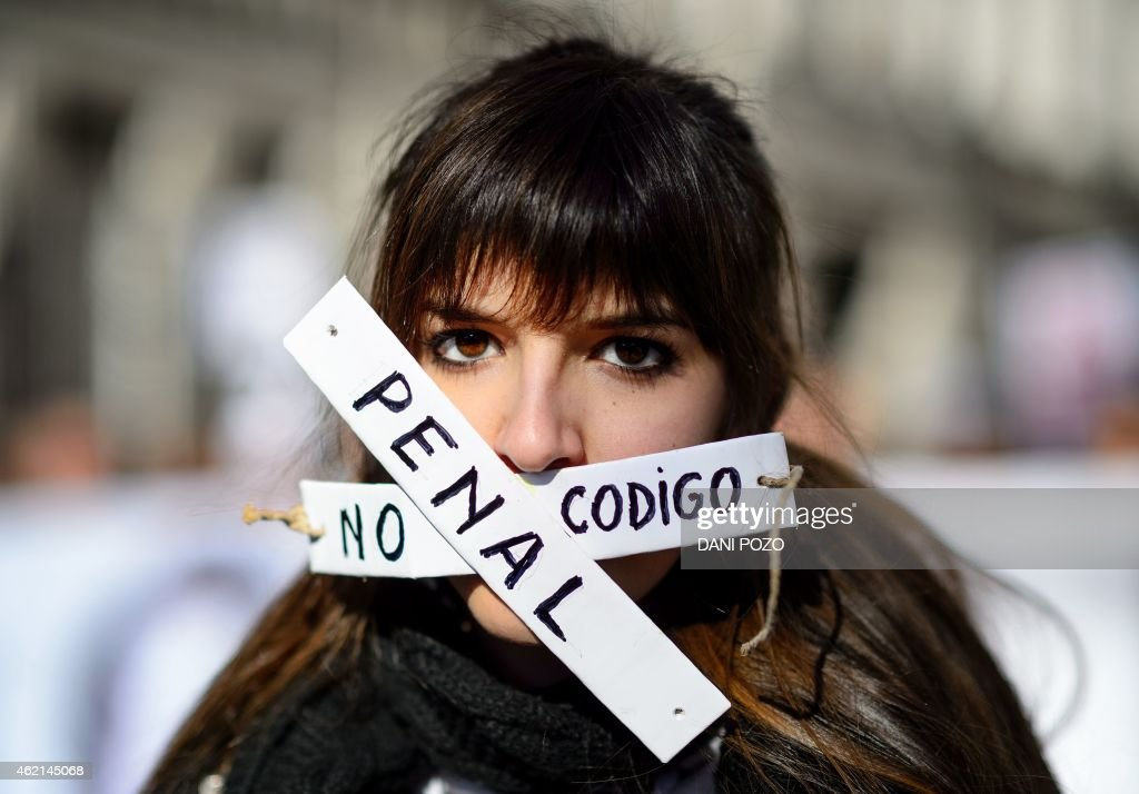 SPAIN-JUSTICE-SECURITY-PROTEST : News Photo