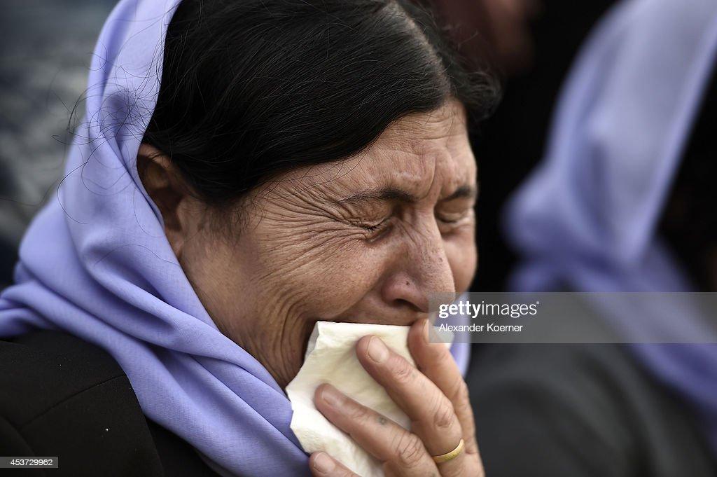 Yazidi Protest Against Attacks In Iraq : News Photo
